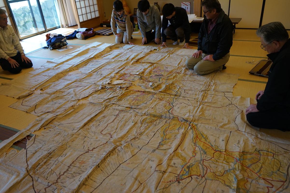 明治時代の畑の村地図