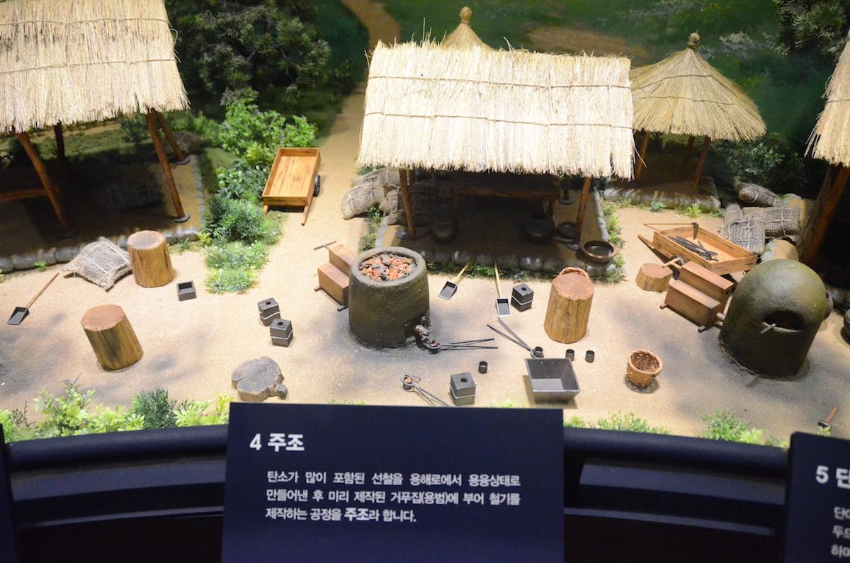 韓国国立中原文化財研究所の展示