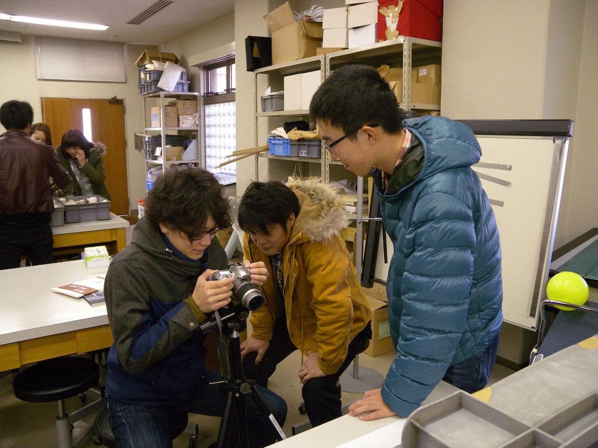 考古学写真撮影の実習