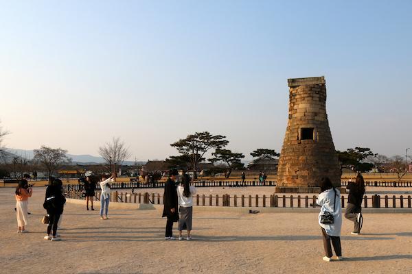 韓国慶州の瞻星台