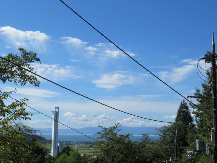 望湖堂跡から琵琶湖を臨む