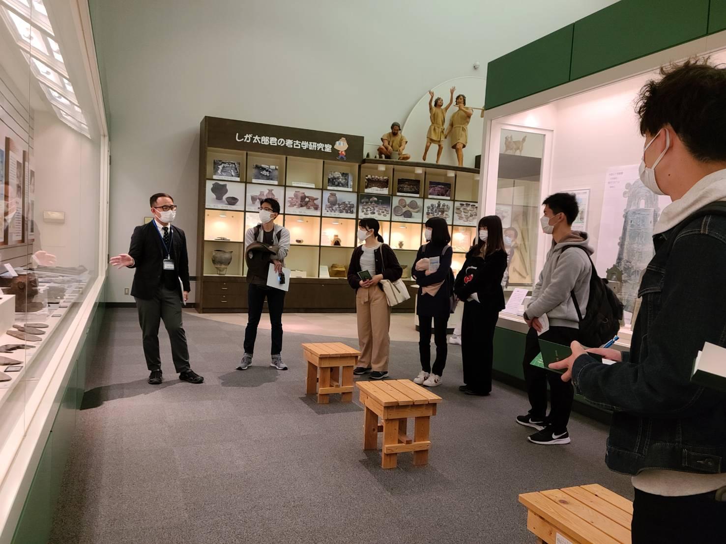 安土城考古学博物館の見学